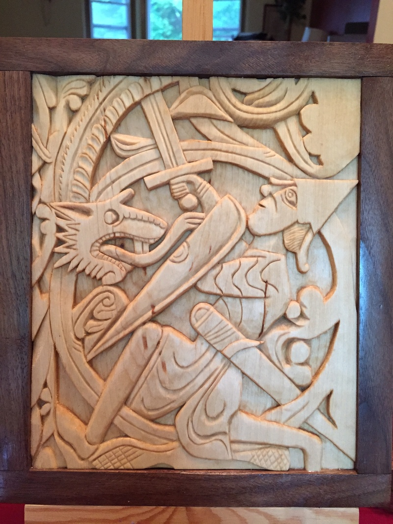 Viking & celtic viking wood carving